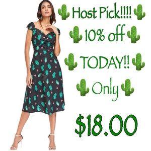 🍍Cap Sleeve sz 6,Watermelon Cactus Dress -…